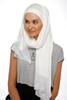 One Piece Full Cover Lace Turban - Off White (1388225789996)