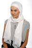 One Piece Full Cover Lace Turban - Off White