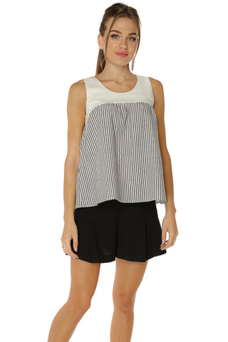 Empire Bodice Top- Stripe