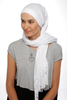 One Piece Full Cover Lace Turban - White