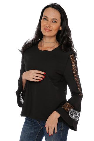 Bell Lace Long Sleeve Top