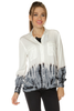 Tie Dye Long Sleeve Shirt- White - Gingerlining