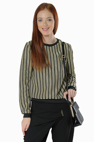 Metallic Top- Black/Gold - Gingerlining (8324833233)