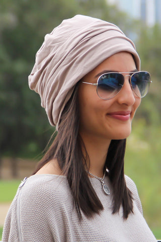 Simple Drape Turban - Peanut