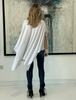 Short Sleeves Poncho Top - White
