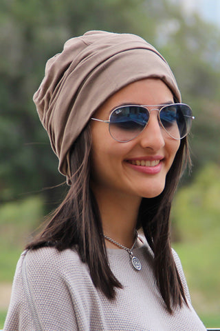 Simple Drape Turban - Light Mocha (1707779457068)