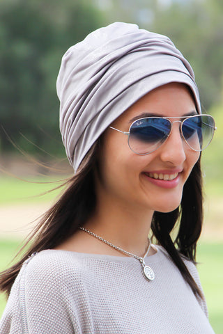 Simple Drape Turban - Silver