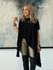 Short Sleeves Poncho Top - Black