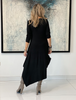 Long Sleeves Total Comfort Dress - Black (4170130325637)