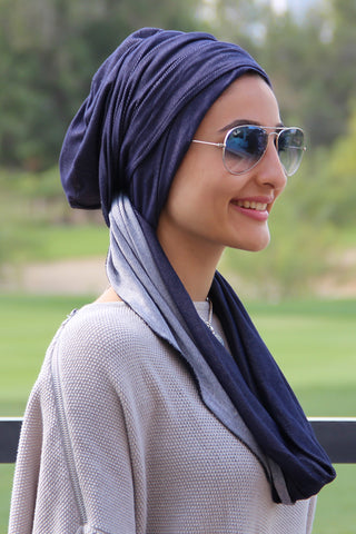 3 Layers Turban - Denim