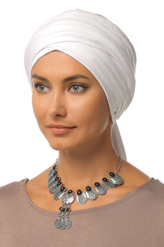 Multi-way Wrap Turban - White - Gingerlining