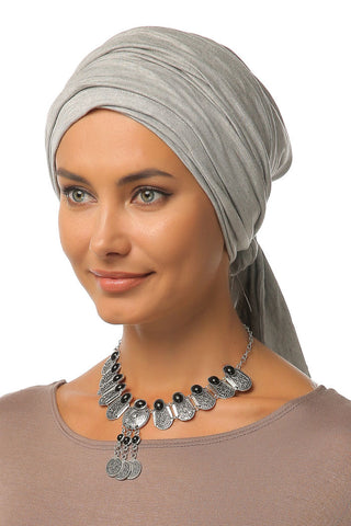 Multi-way Wrap Turban - Light Grey - Gingerlining