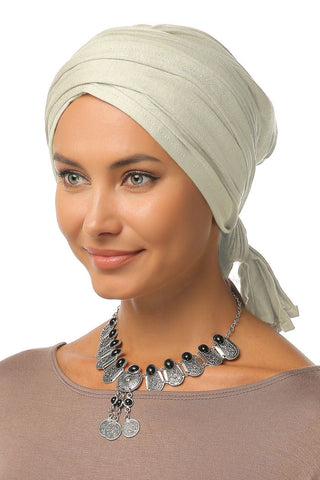Multi-way Wrap Turban - Cream - Gingerlining