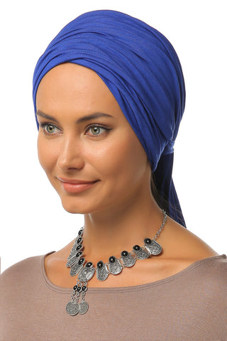 Multi-way Wrap Turban - Blue - Gingerlining