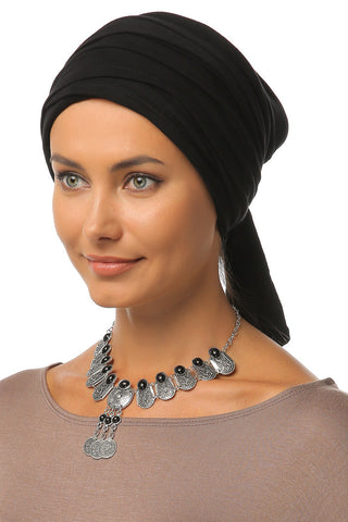 Multi-way Wrap Turban - Black - Gingerlining