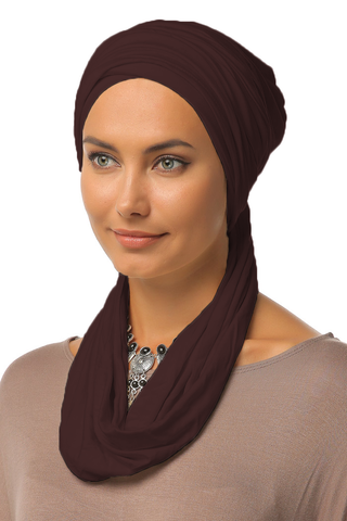 3 Layers Turban - Dark Brown - Gingerlining