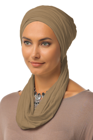 3 Layers Turban - Mocha - Gingerlining
