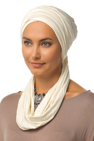 3 Layers Turban - Off White - Gingerlining