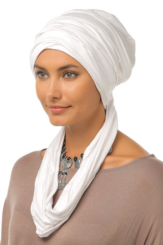 3 Layers Turban - White - Gingerlining