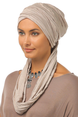 3 Layers Turban - Beige