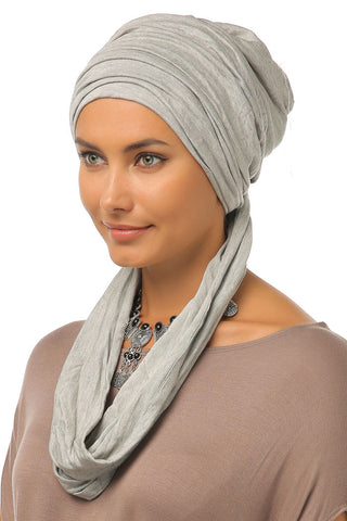 3 Layers Turban - Light Grey - Gingerlining