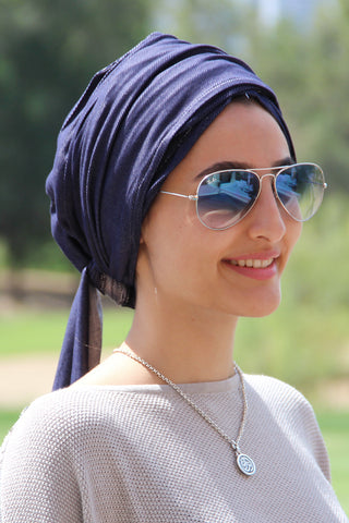 Multi-way Wrap Turban -  Denim