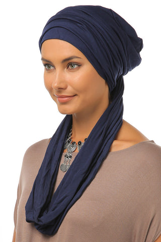 3 Layers Turban - Navy - Gingerlining