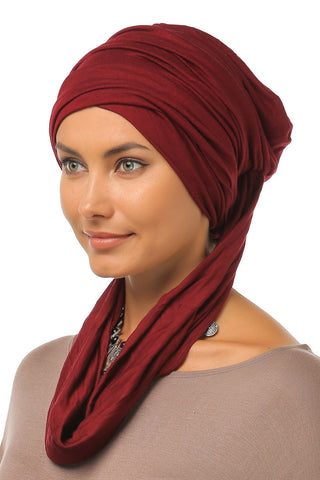 3 Layers Turban - Burgundy - Gingerlining
