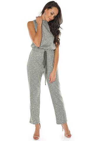 Solid Trendy Jumpsuit - Olive