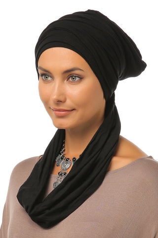 3 Layers Turban - Black - Gingerlining