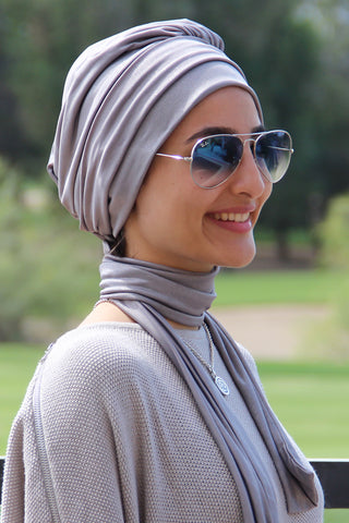 Multi-way Wrap Turban -  Silver