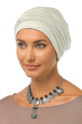 Simple Drape Turban - Cream - Gingerlining