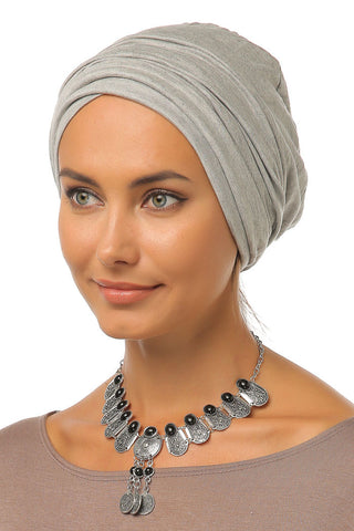 Simple Drape Turban - Light Grey - Gingerlining