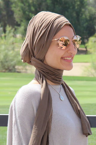 Multi-way Wrap Turban -  Dark Mocha