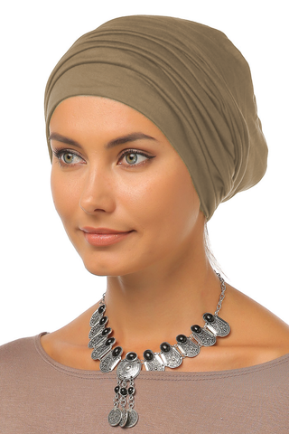 Simple Drape Turban - Mocha - Gingerlining