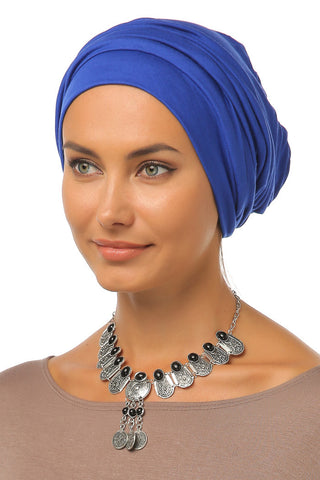 Simple Drape Turban - Blue - Gingerlining