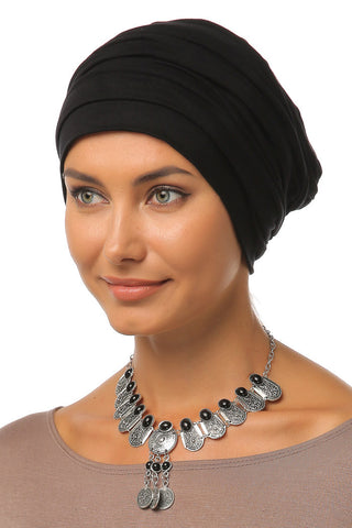 Simple Drape Turban - Black - Gingerlining (9444216209)
