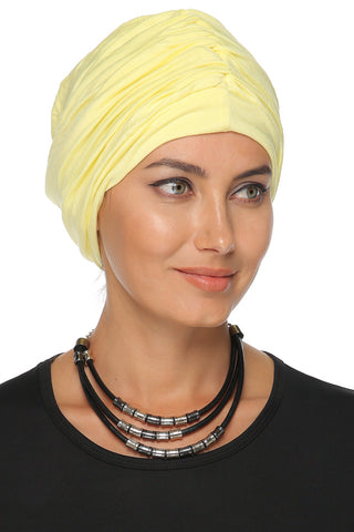Simple Drape Turban - Yellow - Gingerlining