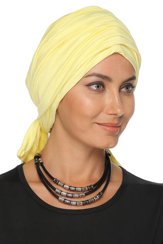 Multi-way Wrap Turban -  Yellow - Gingerlining
