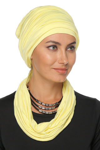 3 Layers Turban - Yellow