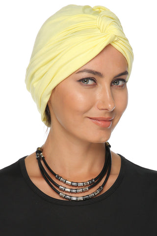 Simple Knot Turban - Yellow - Gingerlining
