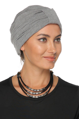 Simple Tab Turban - Grey - Gingerlining
