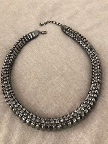 Fine Strip Studded Choker