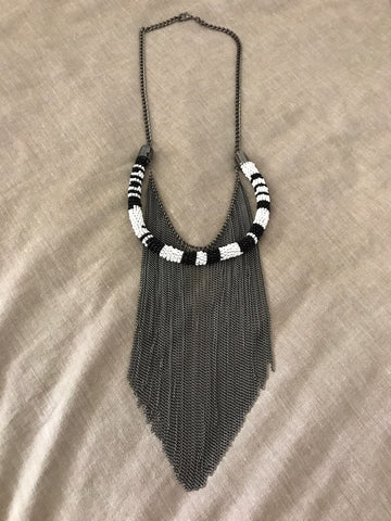 Tribal Beaded Chain Necklace - Gingerlining