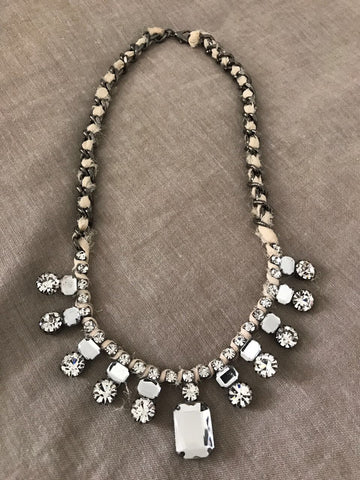 Artificial Stone Collar Necklace - Gingerlining