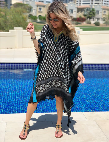 Midi Black Kaftan - Fairuz