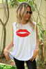 With Love From Paris Sleeveless Tee - White (1864837398572)