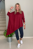 Long Sleeves Asymmetrical Top (5609691938970)