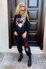 Hoodie & Jogger Pants Set - Black / Tiger Bubble & Nour Al Ein (6233560187054)