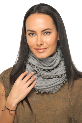 Loopy Scarf - Grey - Gingerlining